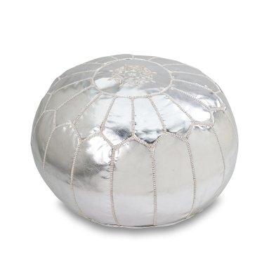 pouf-silver
